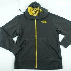 Men's  Gray Yellow Logo Zip Up Hoodie Jacket